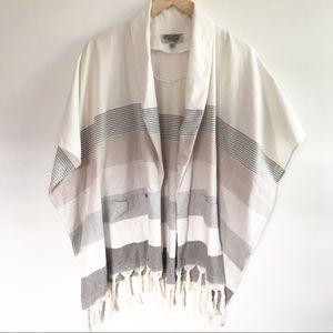 Ecote Stripe urban outfitters Fringe Kimono